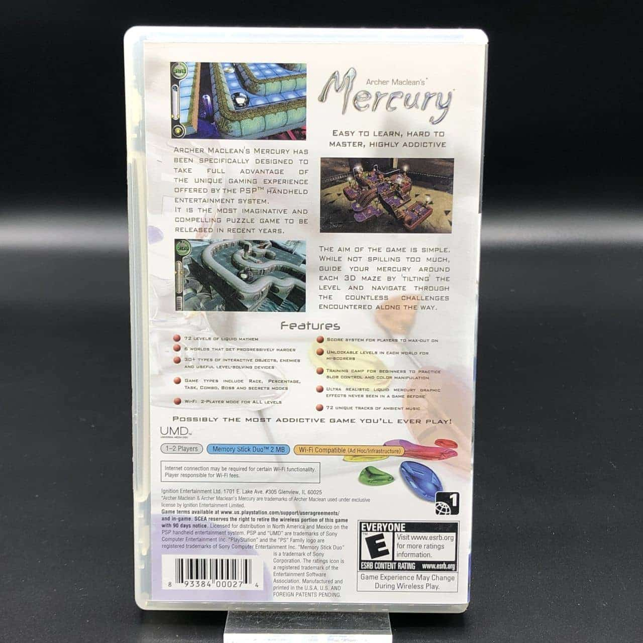 PSP Archer Macleans Mercury (Import USA) (Komplett) (Sehr gut) Sony PlayStation Portable