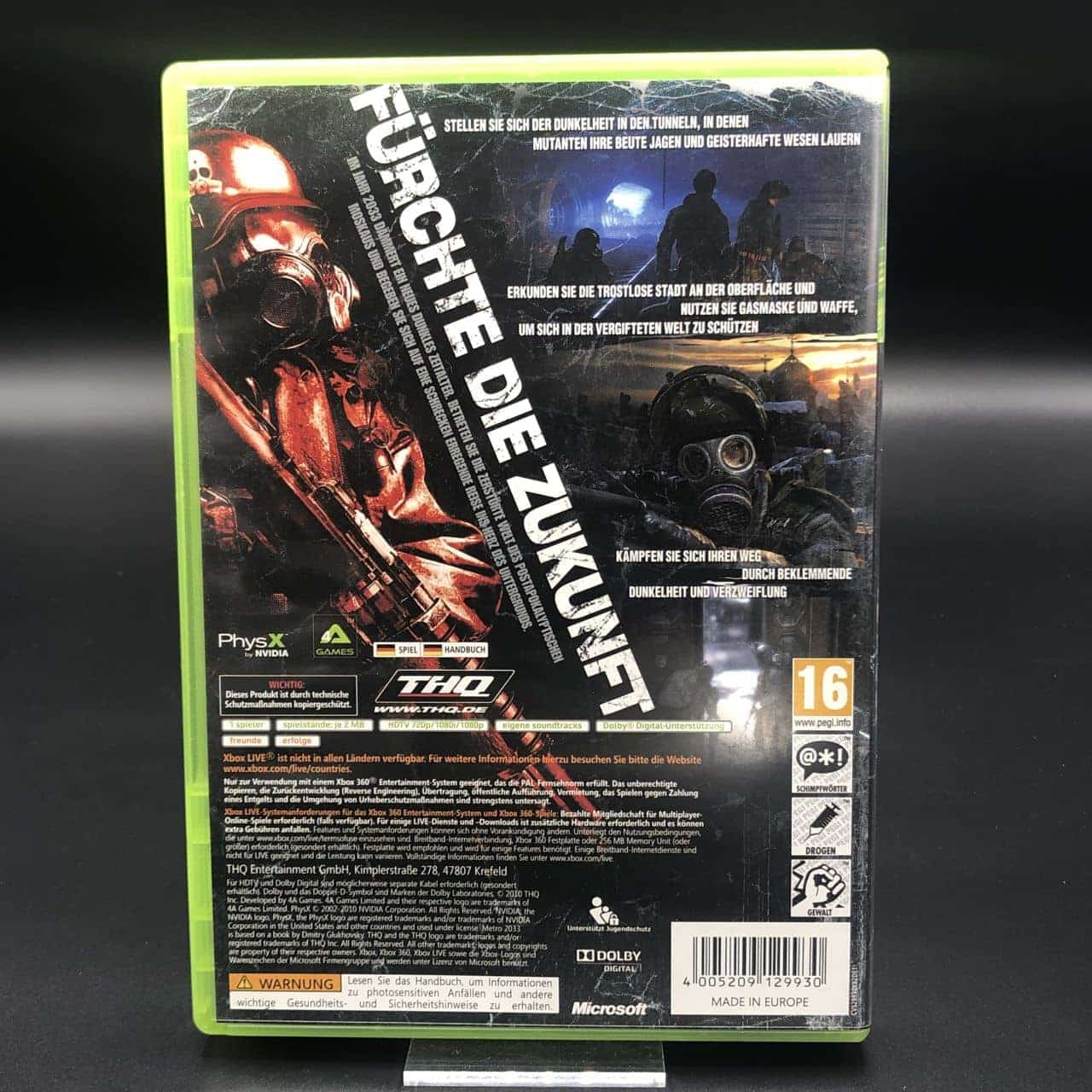 Metro 2033 (Komplett) (Sehr gut) XBOX 360 (FSK18)