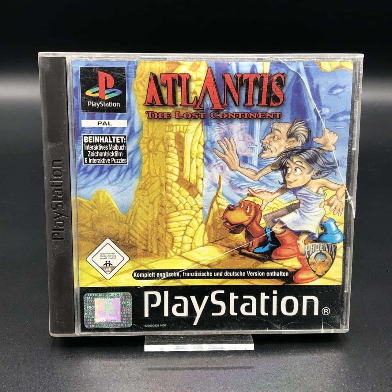 PS1 Atlantis - The Lost Continent (Komplett) (Gut) Sony PlayStation 1