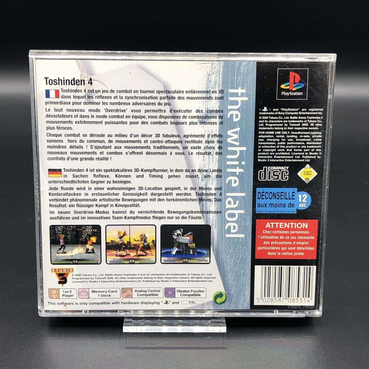 PS1 Toshinden 4 (The White Label) (Komplett) (Sehr gut) Sony PlayStation 1