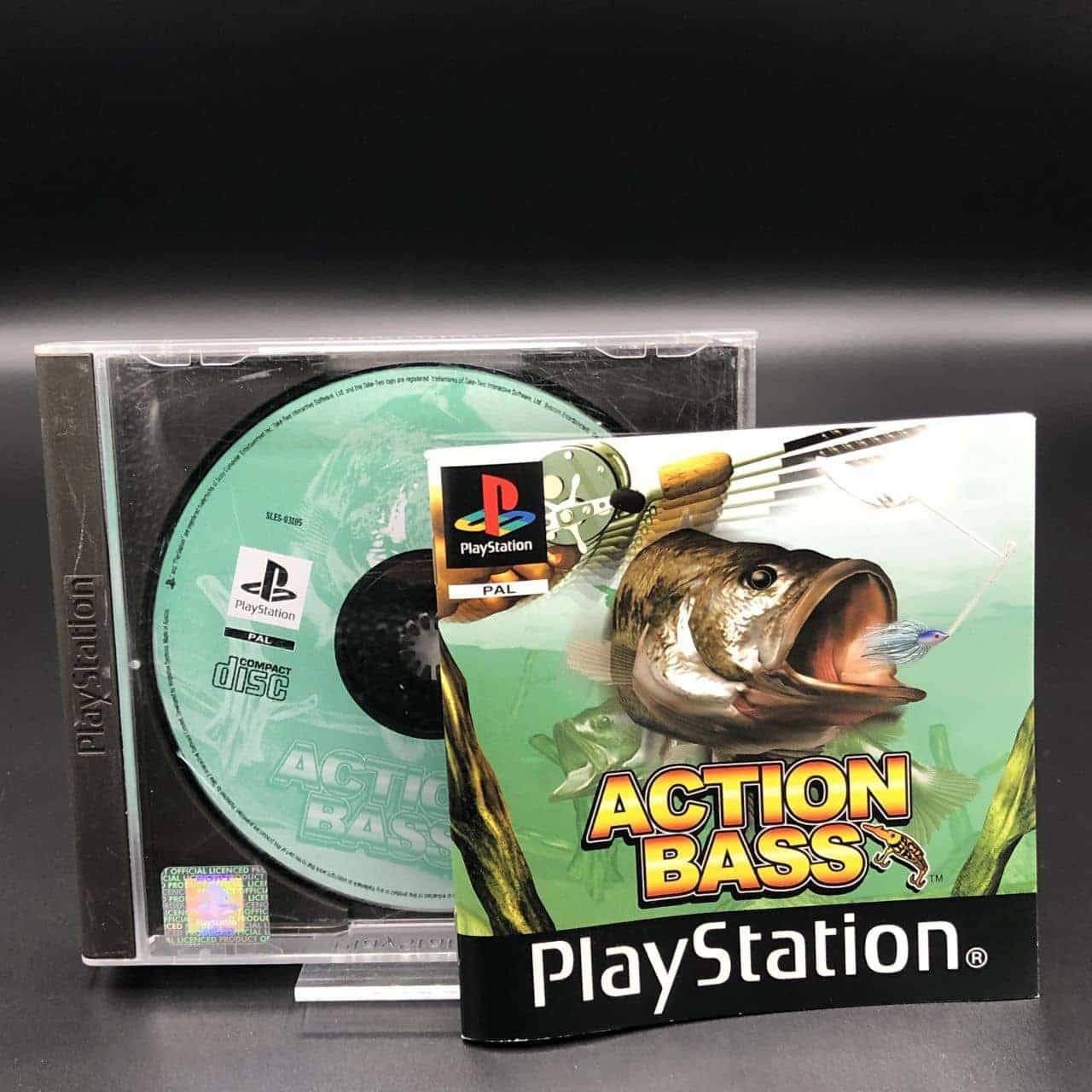 PS1 Action Bass (ohne Front Cover, mit Anleitung) (Gut) Sony PlayStation 1