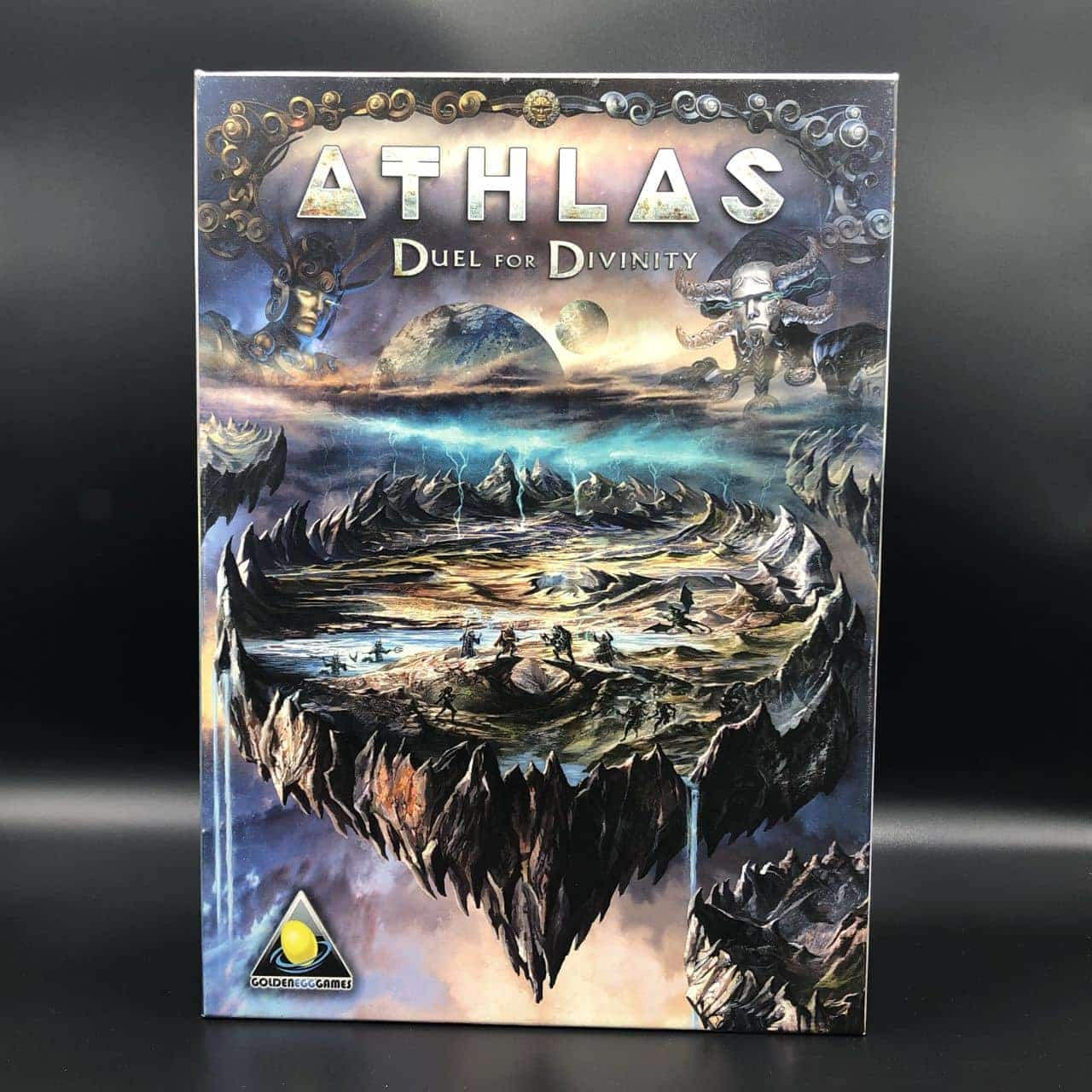 Athlas: Duel for Divinity (Kickstarter Version - Athilian) (Komplett) (Sehr gut) Brettspiel