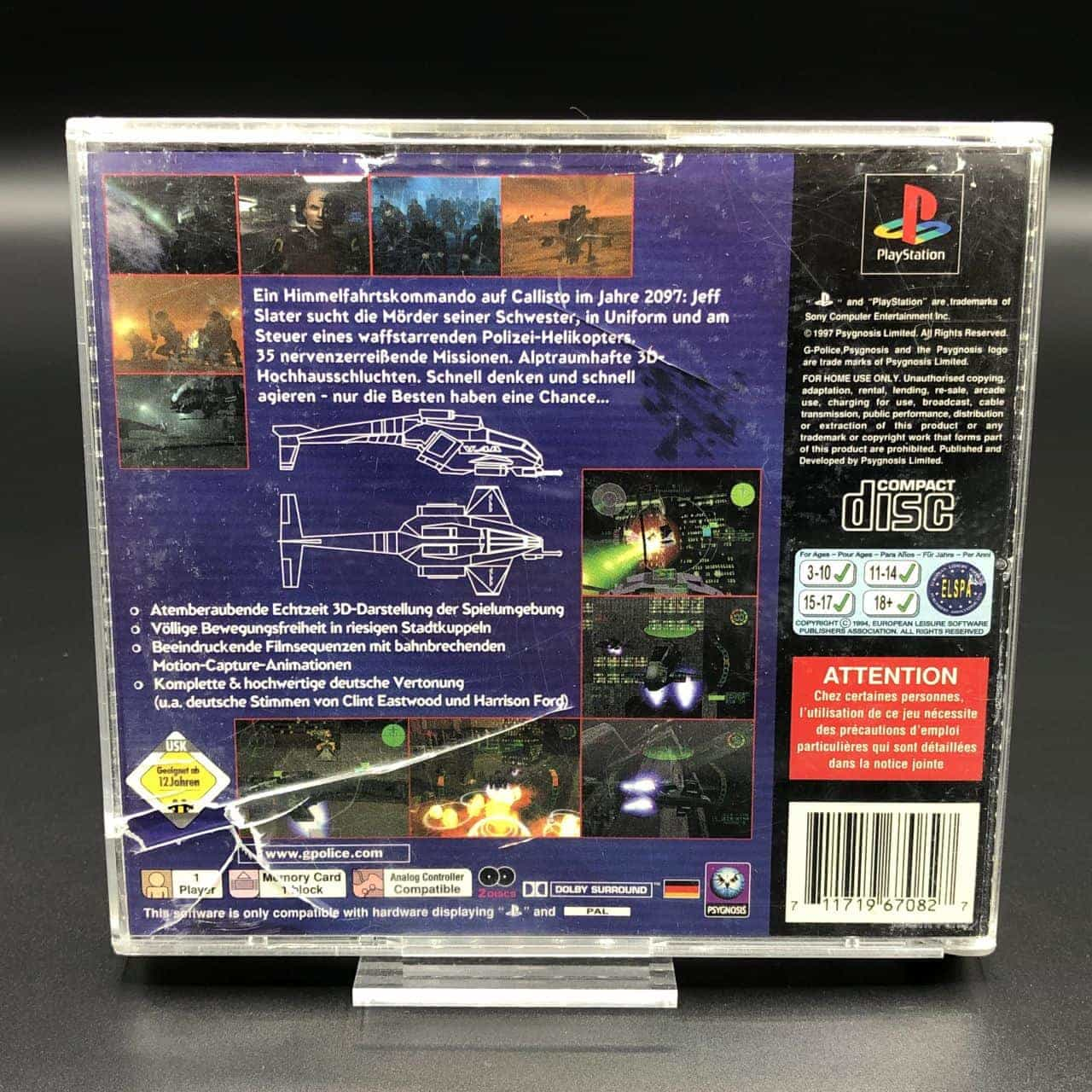 PS1 G-Police (ohne Front Cover, mit Anleitung) (Gut) Sony PlayStation 1