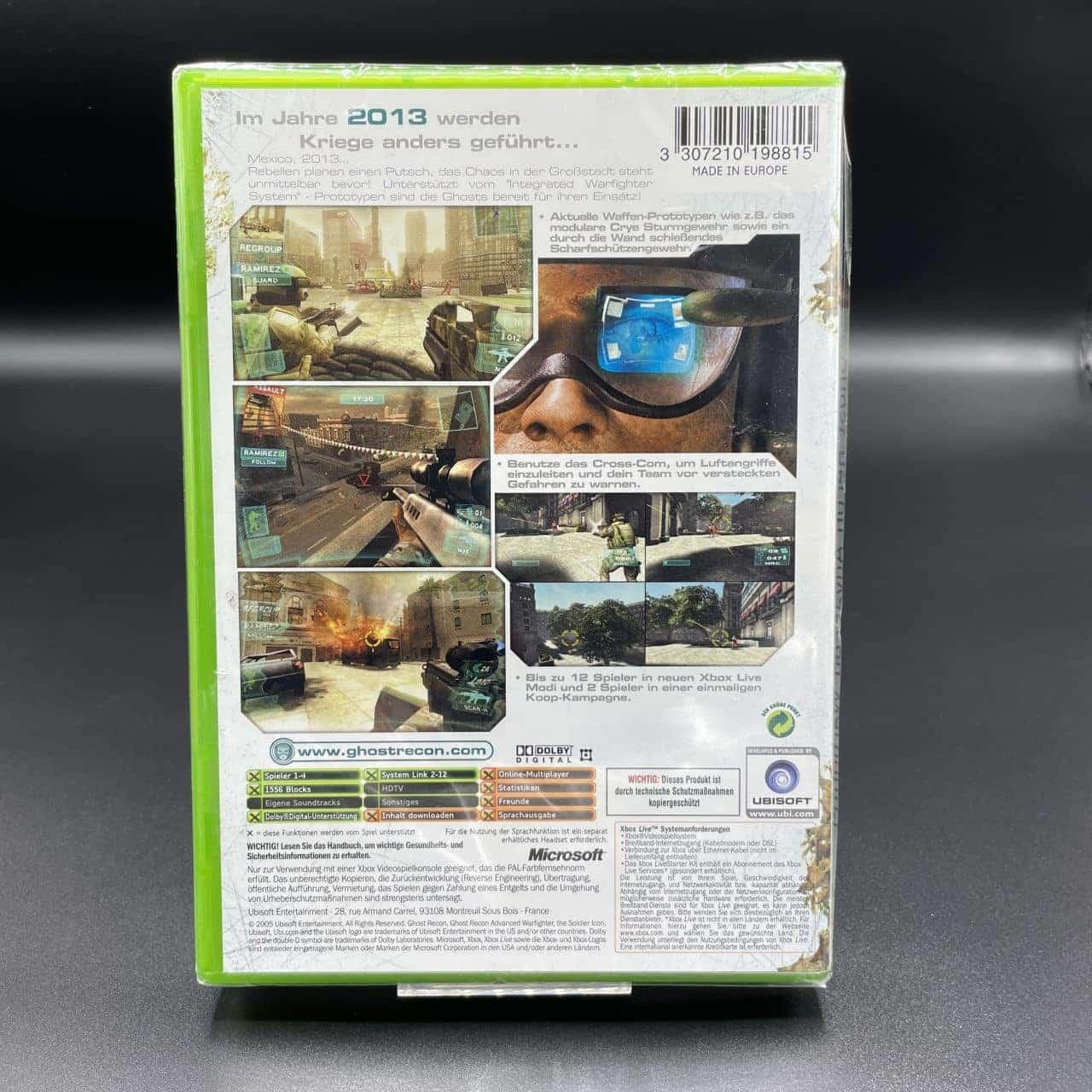 XBC Tom Clancy's Ghost Recon: Advanced Warfighter (NEU) Microsoft Xbox Classic