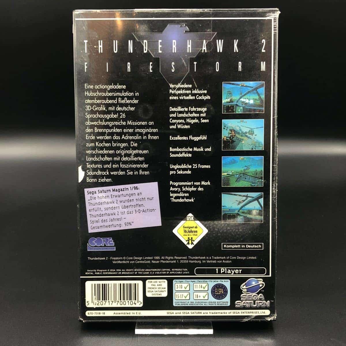 Firestorm: Thunderhawk 2 (NEU) Sega Saturn