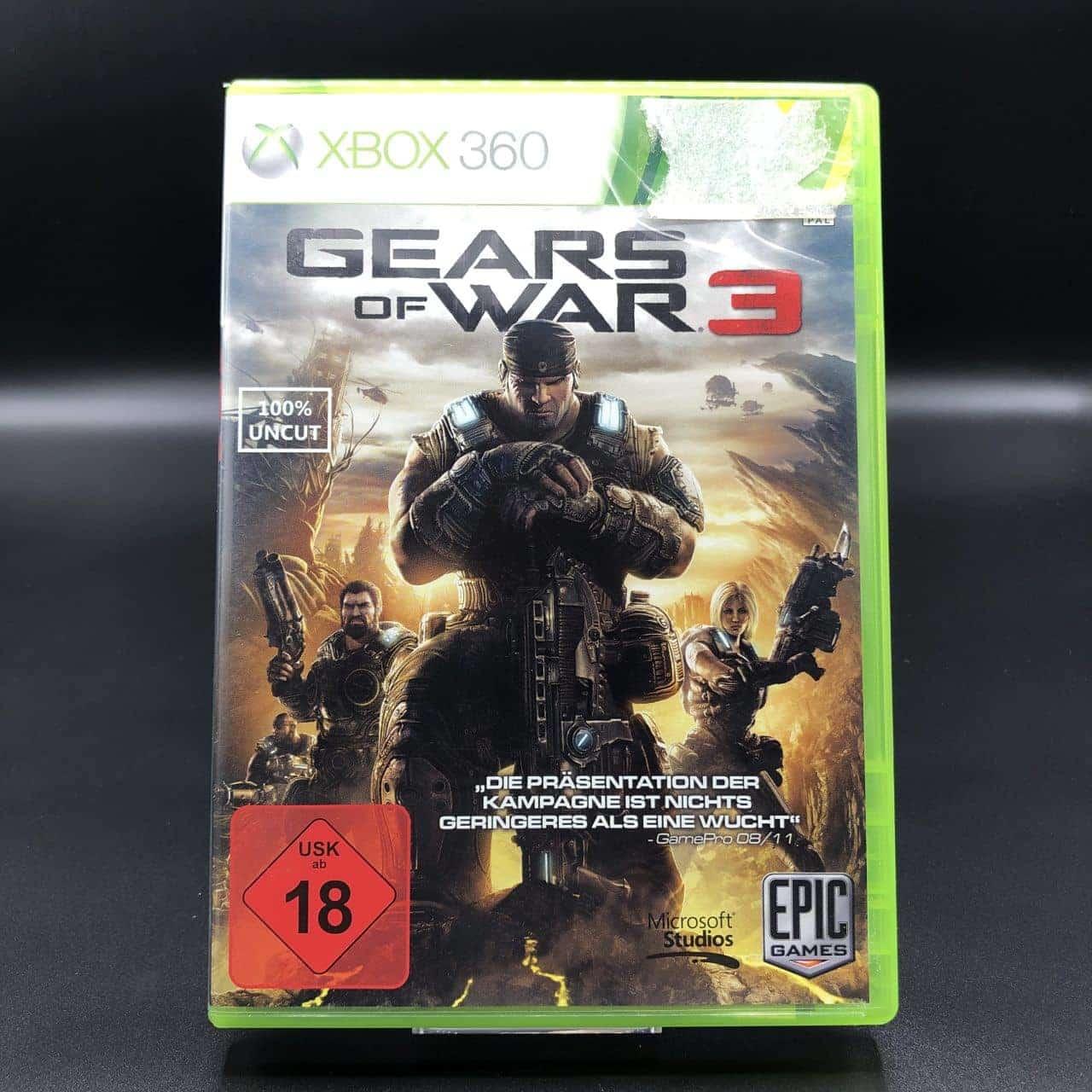 Gears of War 3 (ohne Anleitung) (Sehr gut) XBOX 360 (FSK18)