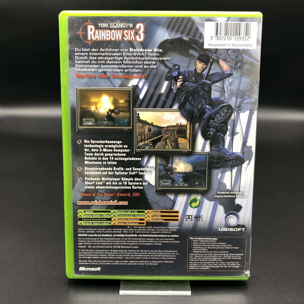 XBC Tom Clancy's Rainbow Six 3 (Komplett) (Gut) Xbox Classic