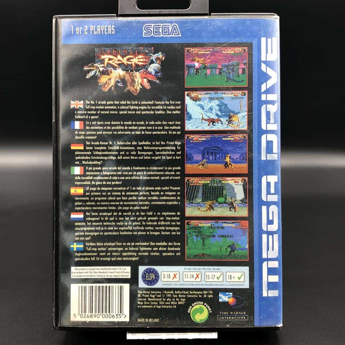 Primal Rage (ohne Anleitung) (Gut) Sega Mega Drive