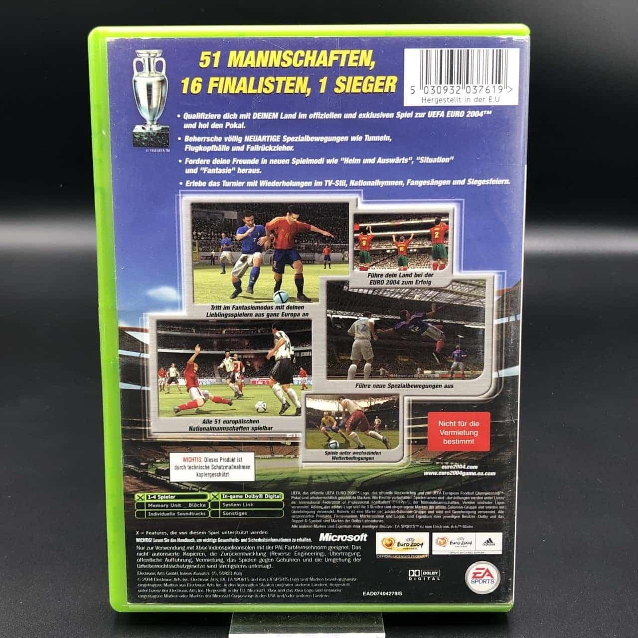 XBC UEFA Euro 2004 (Komplett) (Gebrauchsspuren) Microsoft Xbox Classic