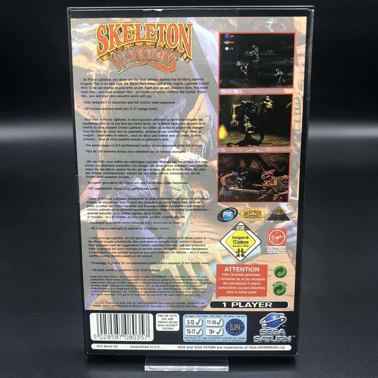 Skeleton Warriors (Komplett) (Sehr Gut) Sega Saturn