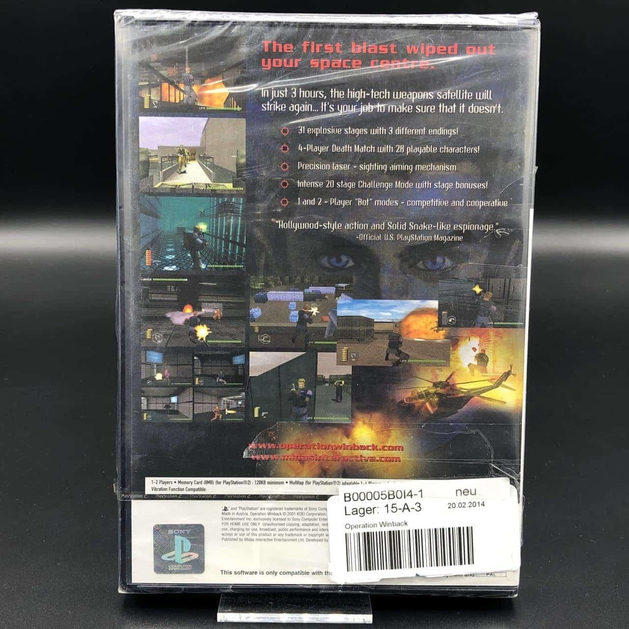 PS2 Operation WinBack (NEU) Sony PlayStation 2 (FSK18)