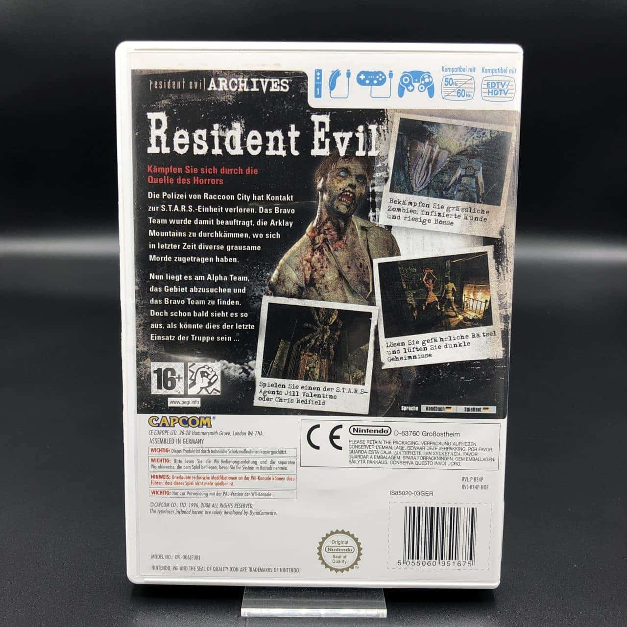 Resident Evil Archives: Resident Evil (Komplett) (Sehr gut) Nintendo Wii (FSK18)