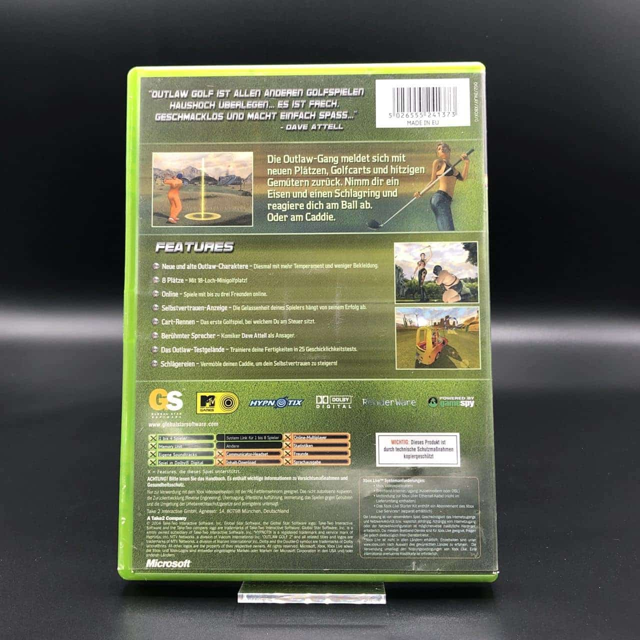 XBC Outlaw Golf 2 (Komplett) (Gut) Microsoft Xbox Classic