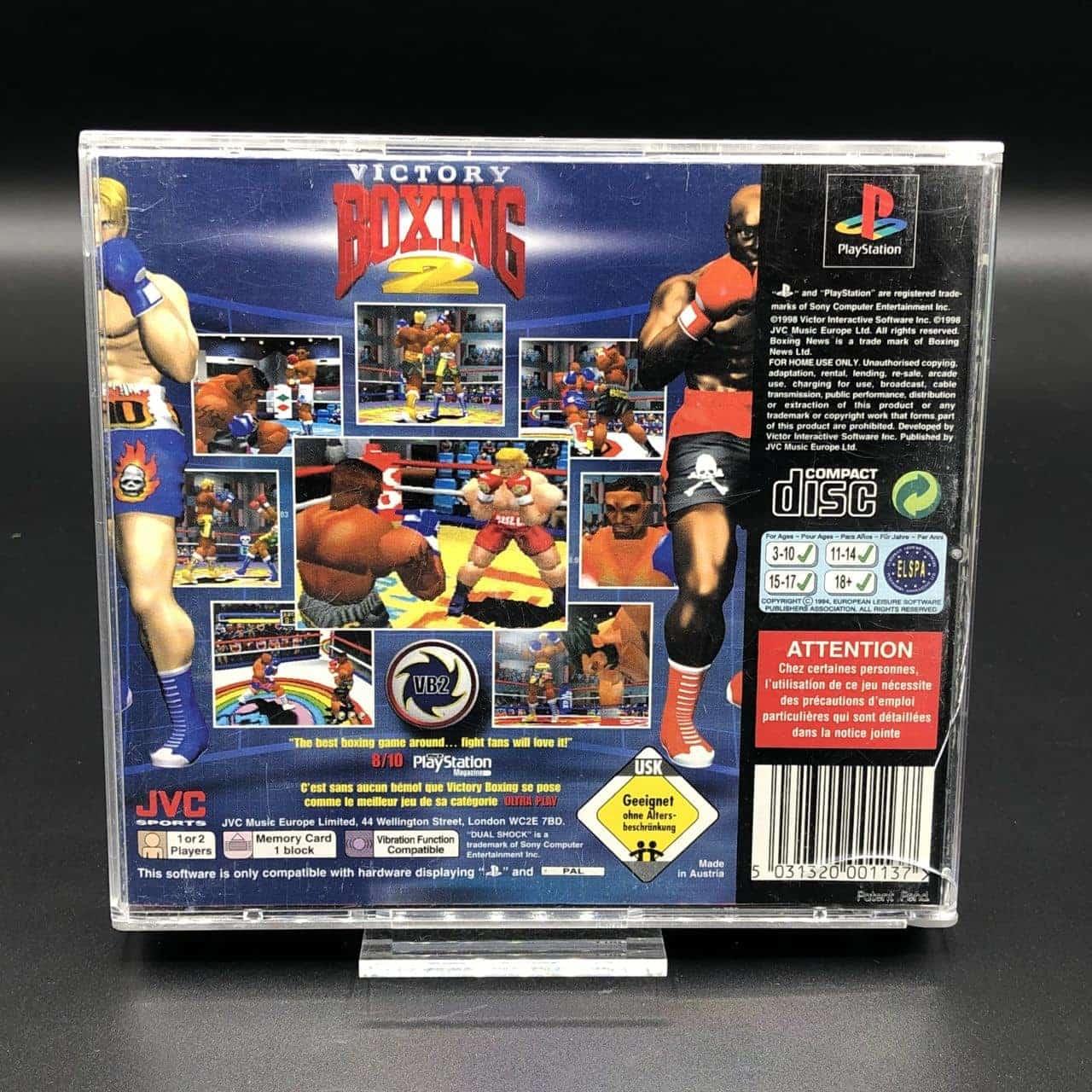 PS1 Victory Boxing 2 (Komplett) (Gut) Sony PlayStation 1