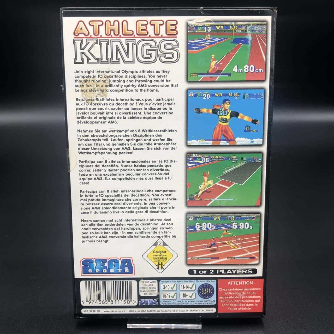 Athlete Kings (Komplett) (Sehr gut) Sega Saturn