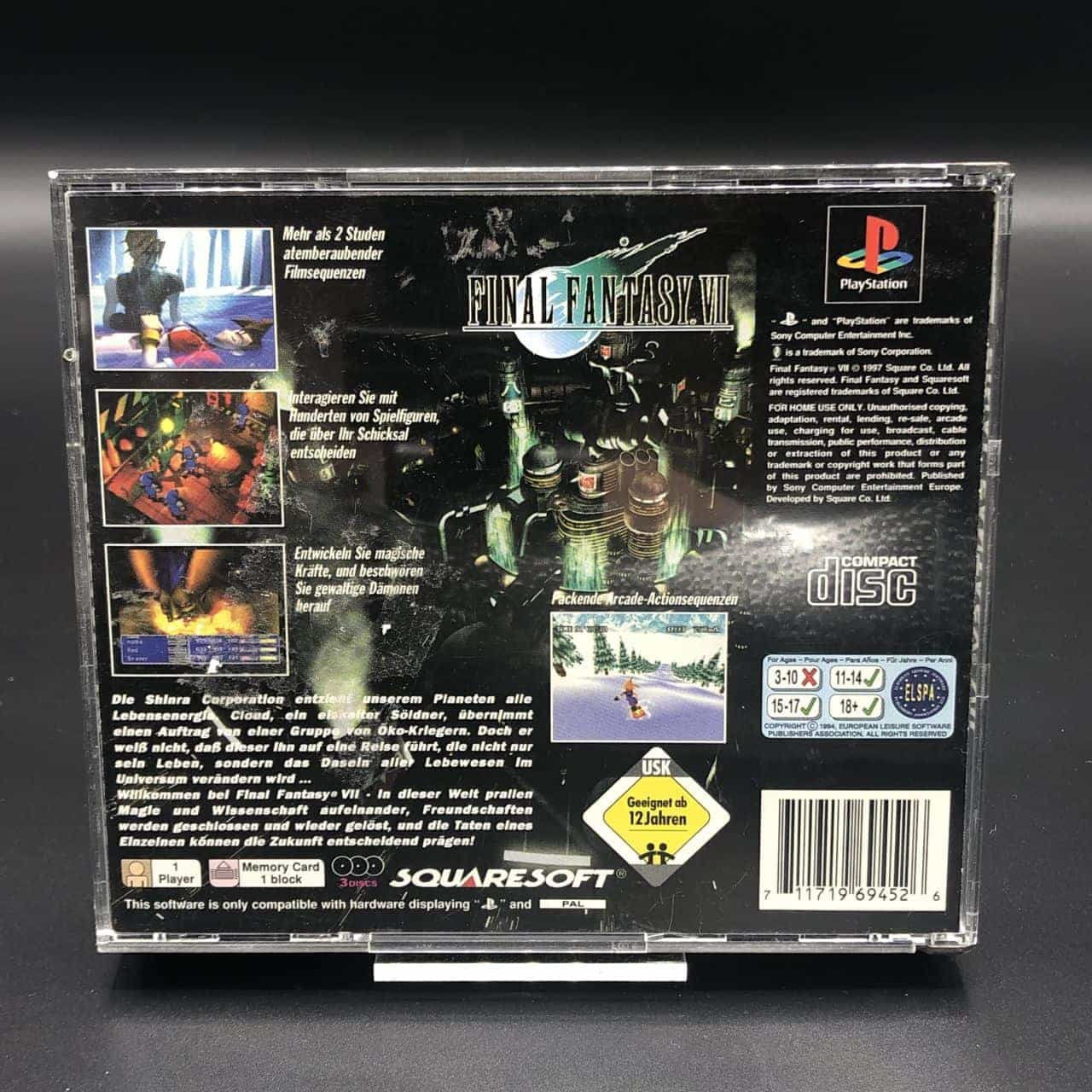 PS1 Final Fantasy VII (ohne Anleitung) (Sehr gut) Sony PlayStation 1