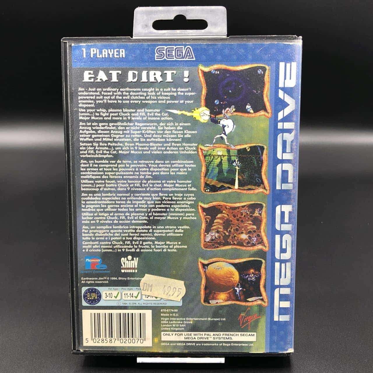 Earthworm Jim (ohne Anleitung) (Gut) Sega Mega Drive
