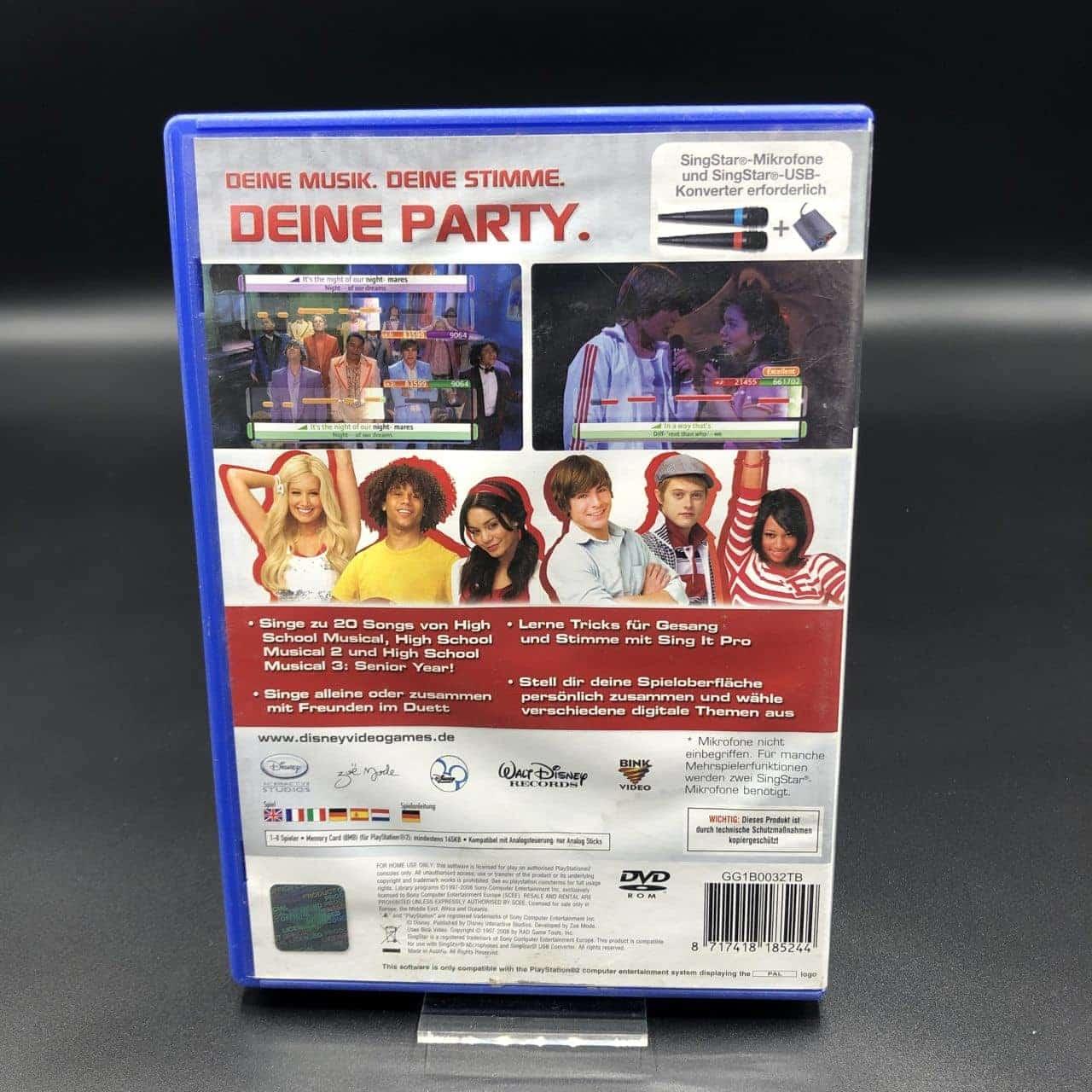 PS2 Disney Sing It! High School Musical 3 Senior Year (Komplett) (Gut) Sony PlayStation 2
