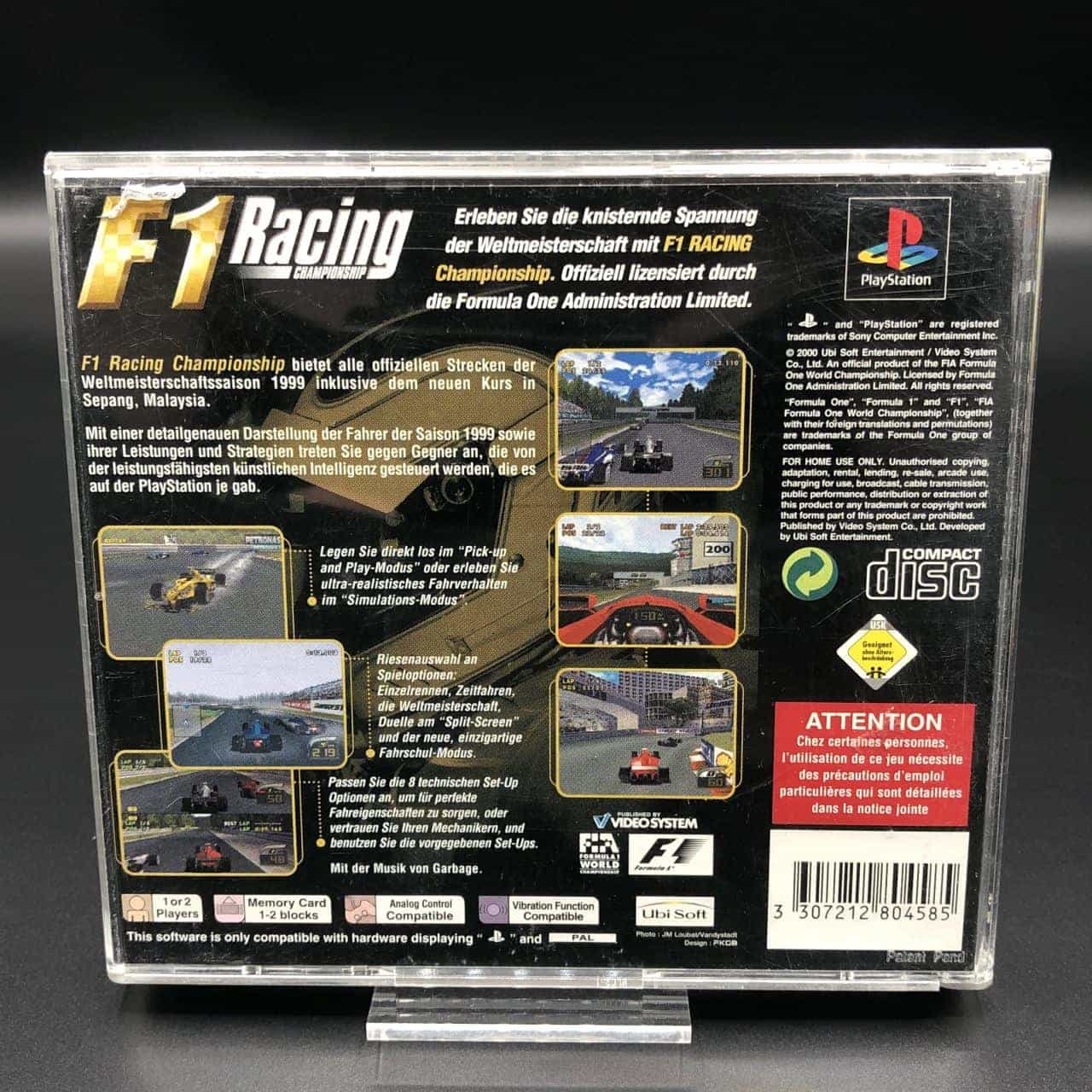 PS1 F1 Racing Championship (ohne Anleitung) (Gut) Sony PlayStation 1