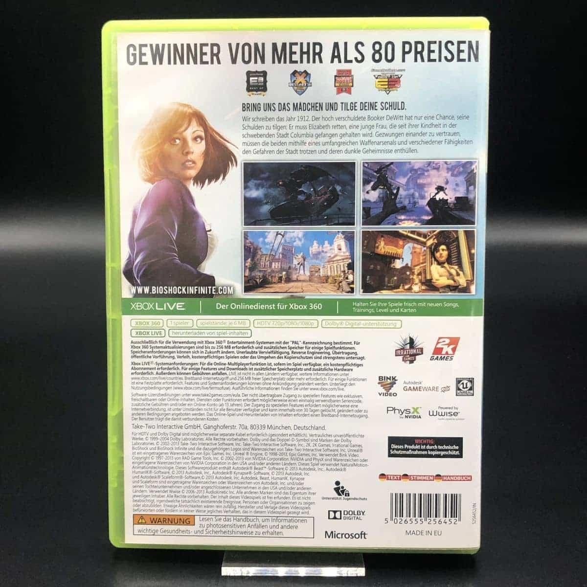 BioShock Infinite (Komplett) (Sehr gut) XBOX 360 (FSK18)
