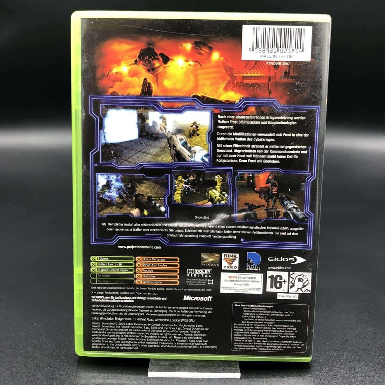 XBC Project Snowblind (Komplett) (Sehr gut) Microsoft Xbox Classic