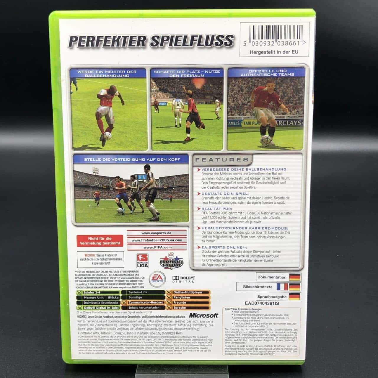 XBC FIFA 2005 (Komplett) (Gut) Microsoft Xbox Classic