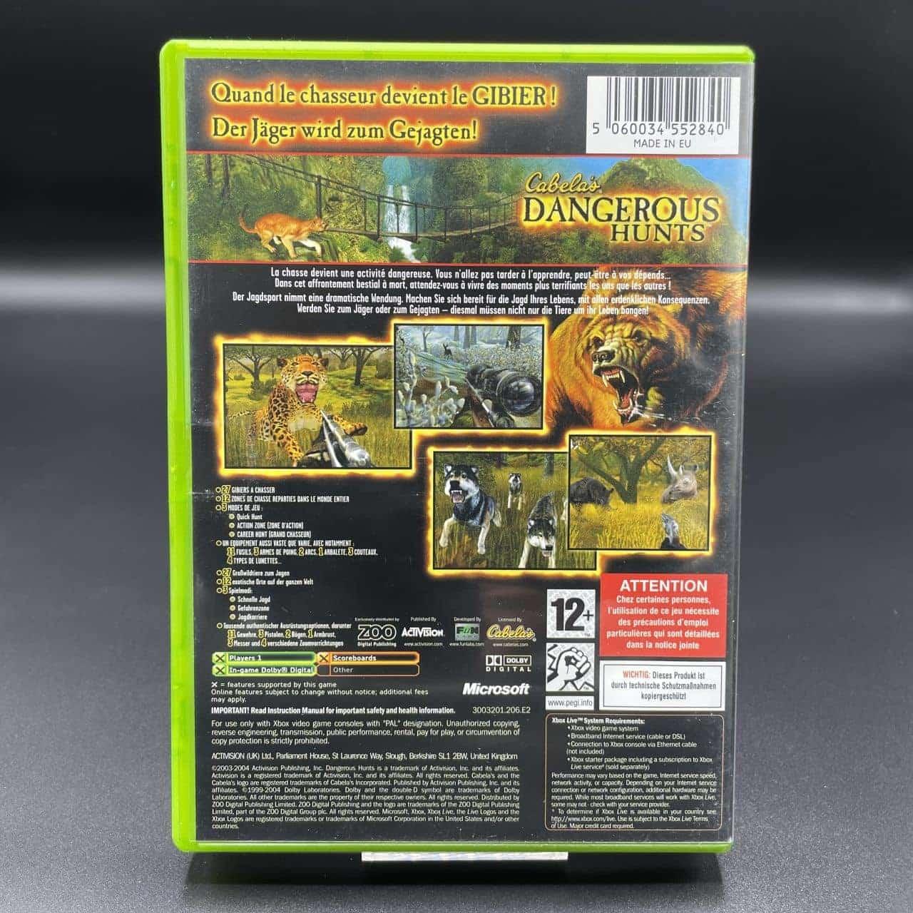 XBC Cabela's Dangerous Hunts (Komplett) (Sehr gut) Microsoft Xbox Classic