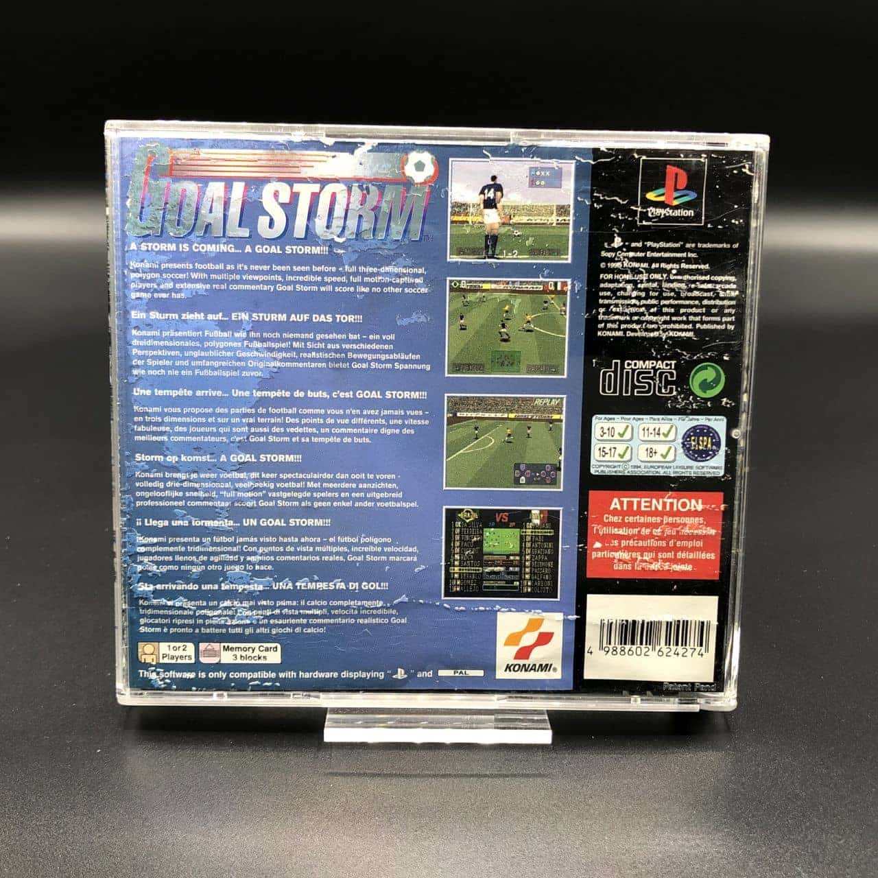 PS1 Goal Storm (ohne Anleitung) (ohne Front Cover) (Gebrauchsspuren) Sony PlayStation 1