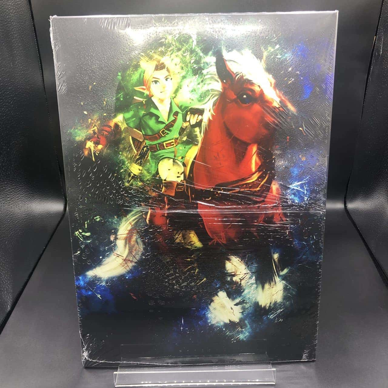 Displate Bild: Link with Horse - Ocarina of Time (Metall) (NEU)