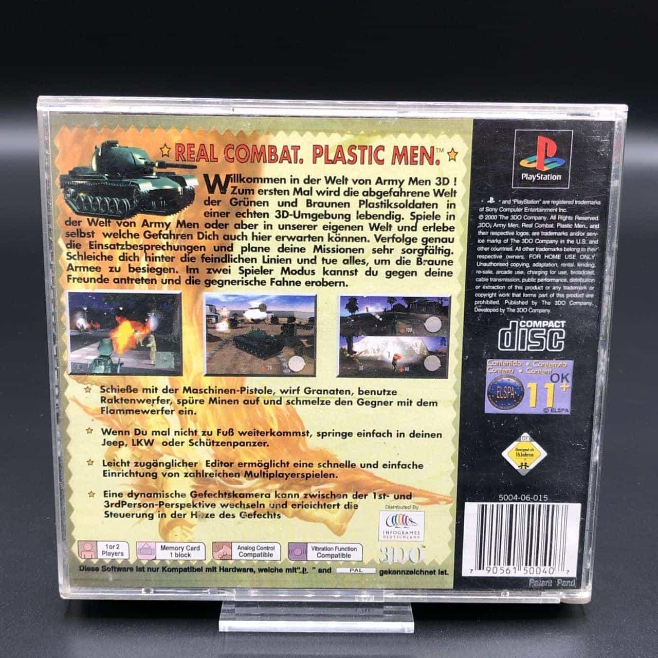 PS1 Army Men 3D (Komplett) (Gebrauchsspuren) Sony PlayStation 1