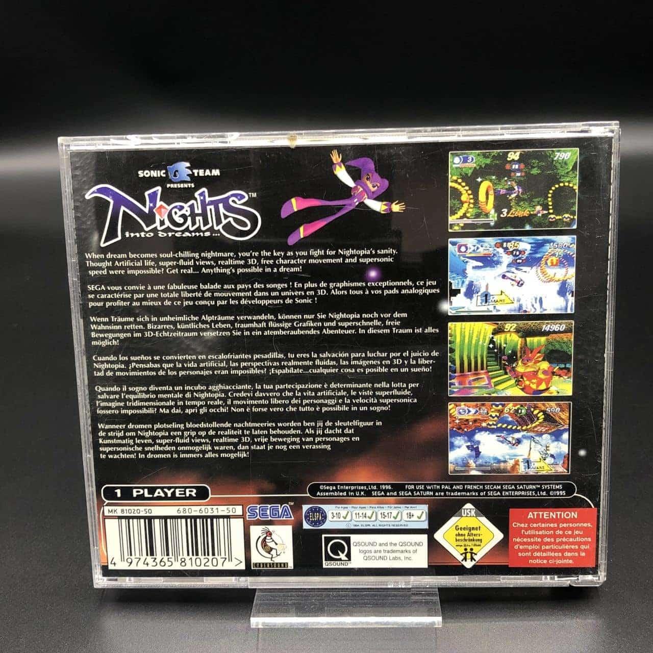 Nights into Dreams (ohne Anleitung) (Sehr gut) Sega Saturn