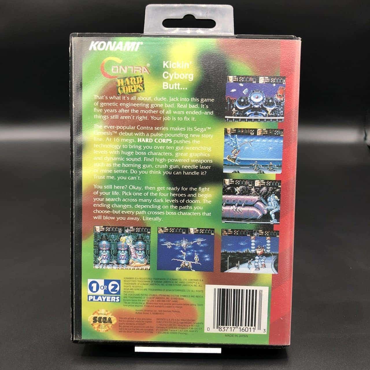 Contra: Hard Corps (Import) (Komplett) (Gut) Sega Genesis