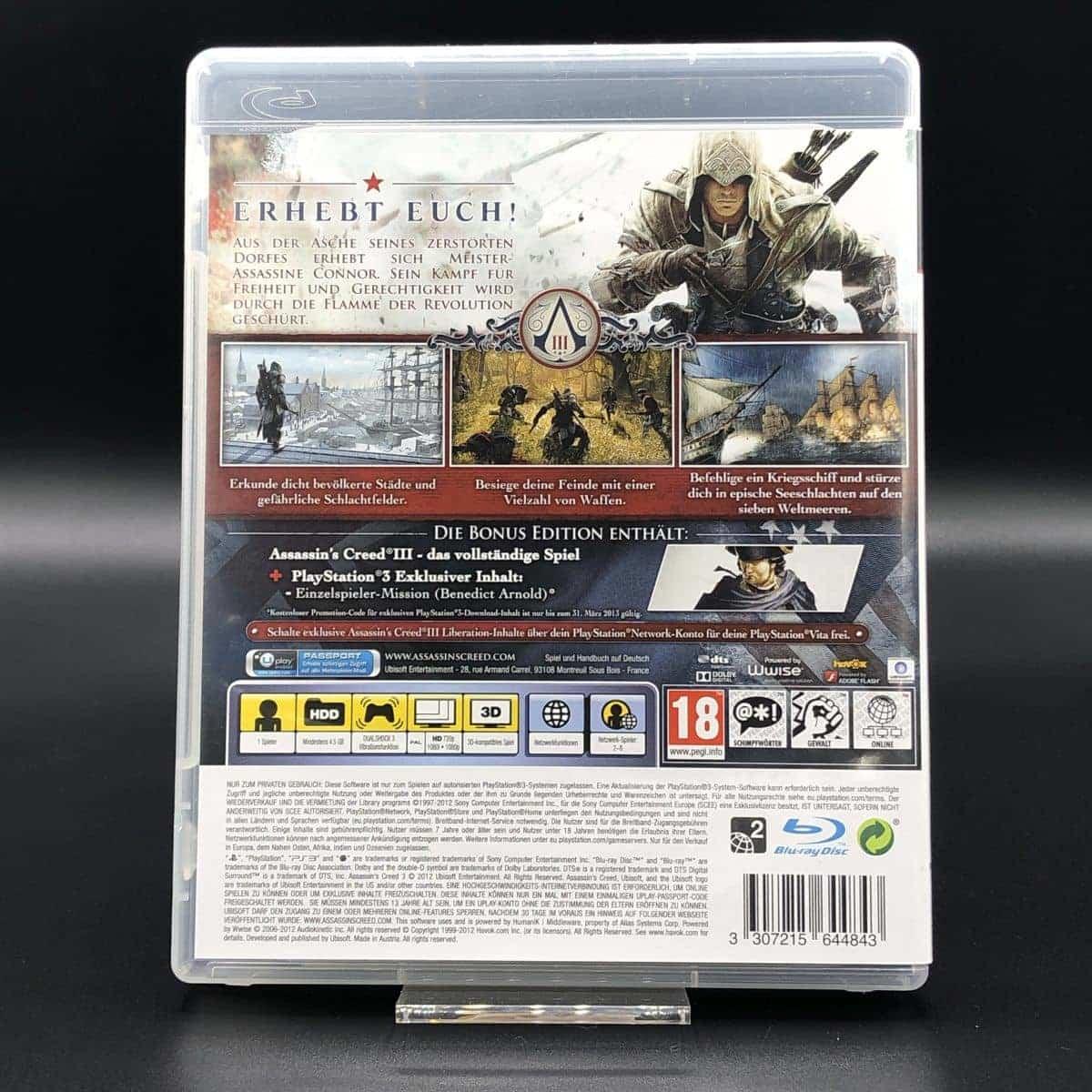 PS3 Assassin's Creed III (Komplett) (Sehr gut) Sony PlayStation 3
