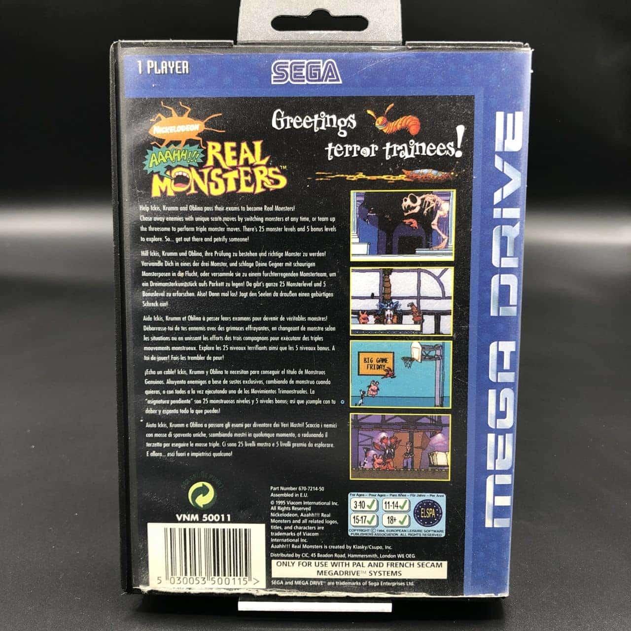 Aaahh!!! Real Monsters (Komplett) (Gut) Sega Mega Drive