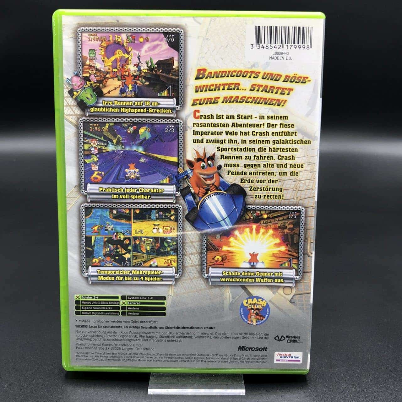 XBC Crash: Nitro Kart (Komplett) (Sehr gut) Microsoft Xbox Classic
