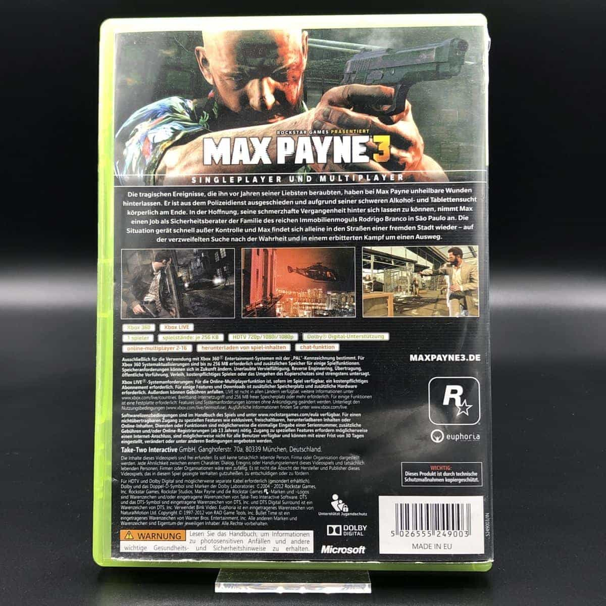 Max Payne 3 (Komplett) (Gut) XBOX 360 (FSK18)