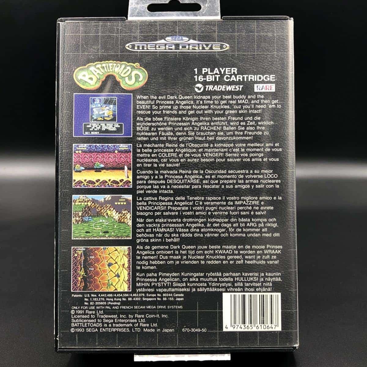 Battletoads (ohne Anleitung) (Gut) Sega Mega Drive