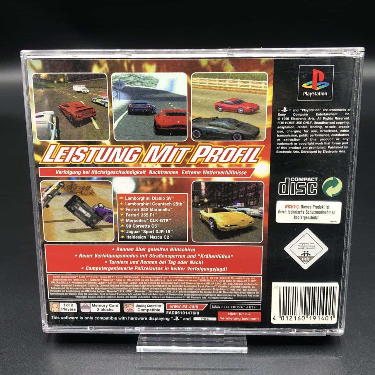 PS1 Need for Speed III: Hot Pursuit (ohne Anleitung) (Gut) Sony PlayStation 1