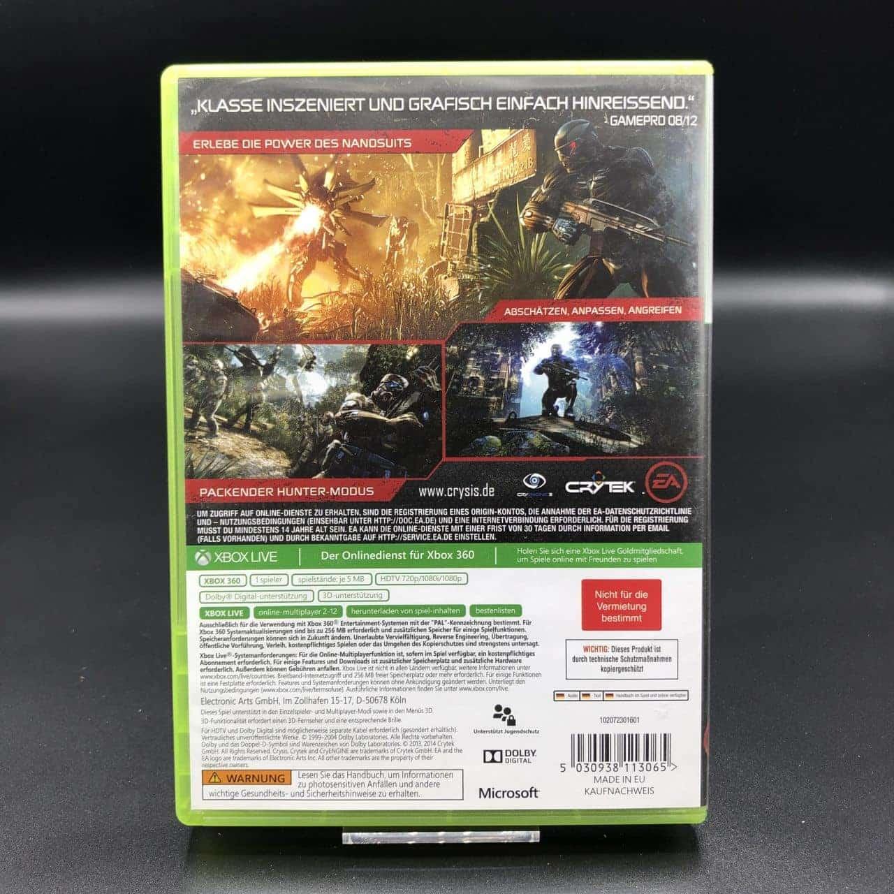 Crysis 3 (Zweitauflage) (ohne Anleitung) (Sehr gut) XBOX 360 (FSK18)