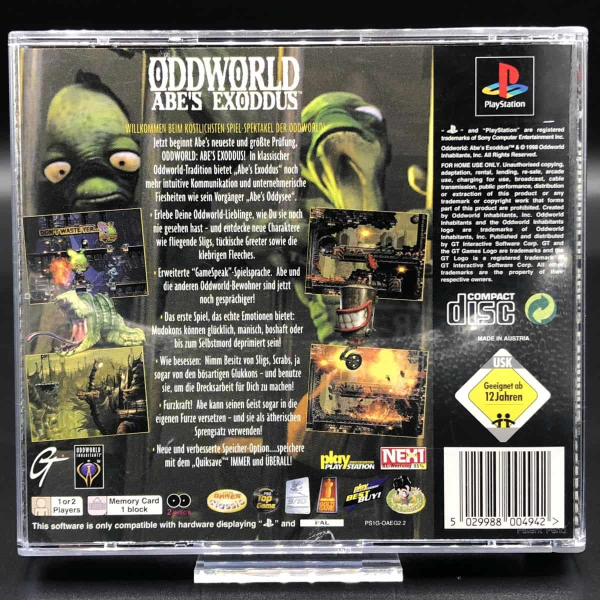 PS1 Oddworld: Abe's Exoddus (Komplett) (Sehr gut) Sony PlayStation 1