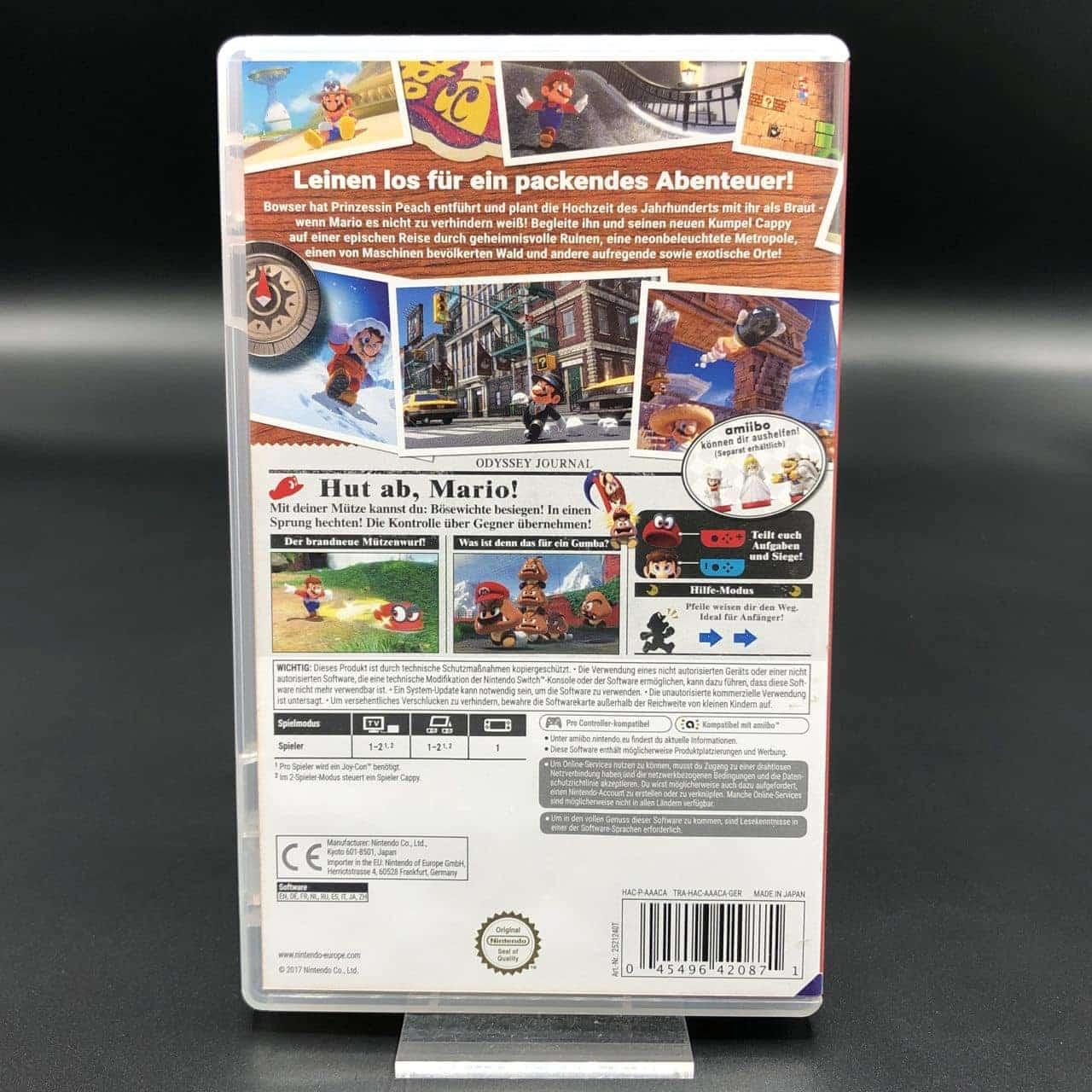 Super Mario Odyssey (Sehr gut) Nintendo Switch