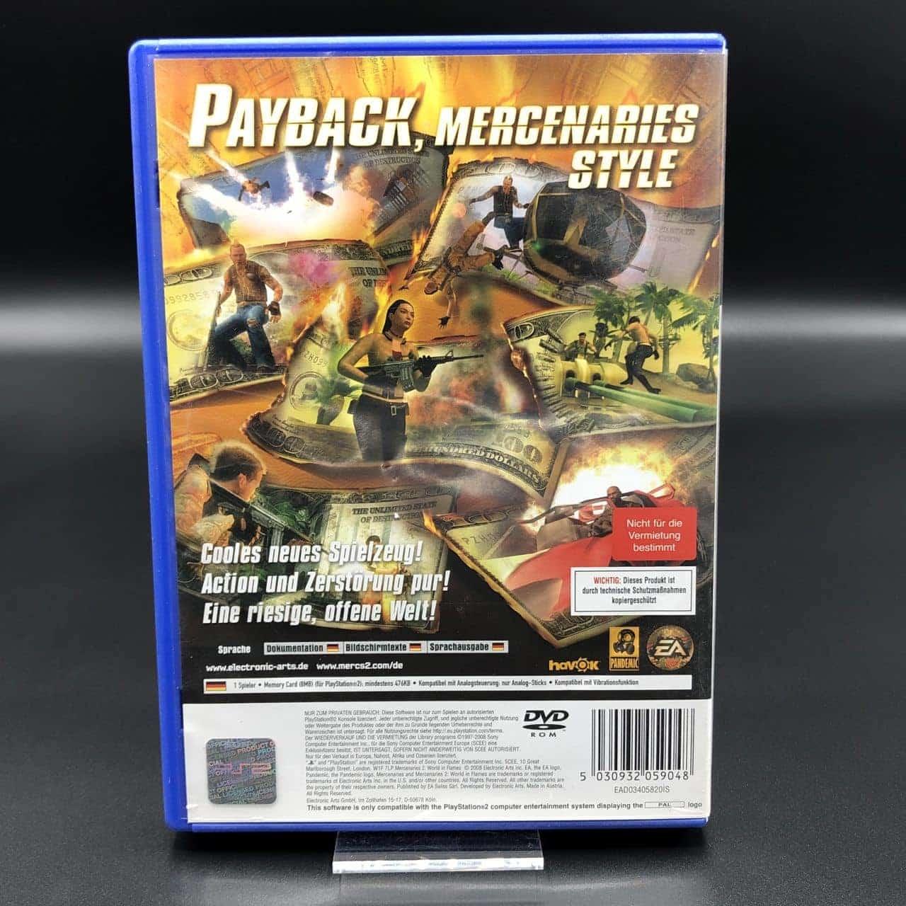 PS2 Mercenaries 2: World in Flames (Komplett) (Gebrauchsspuren) Sony PlayStation 2 (FSK18)