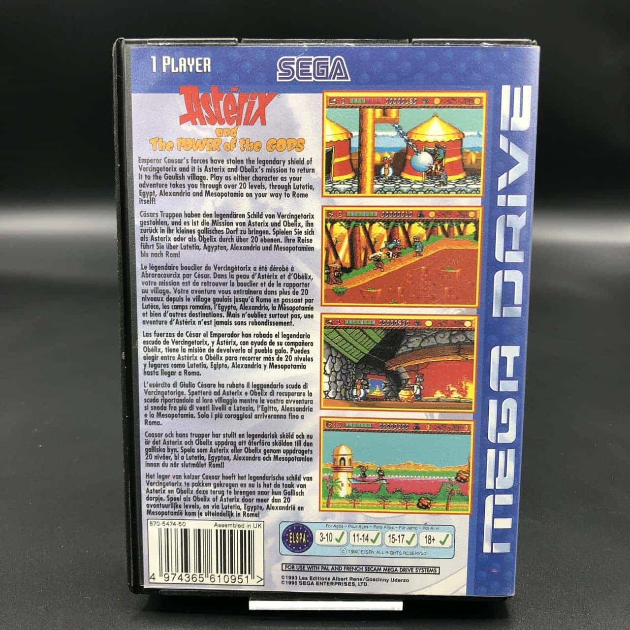 Asterix and the Power of the Gods (ohne Anleitung) (Sehr gut) Sega Mega Drive