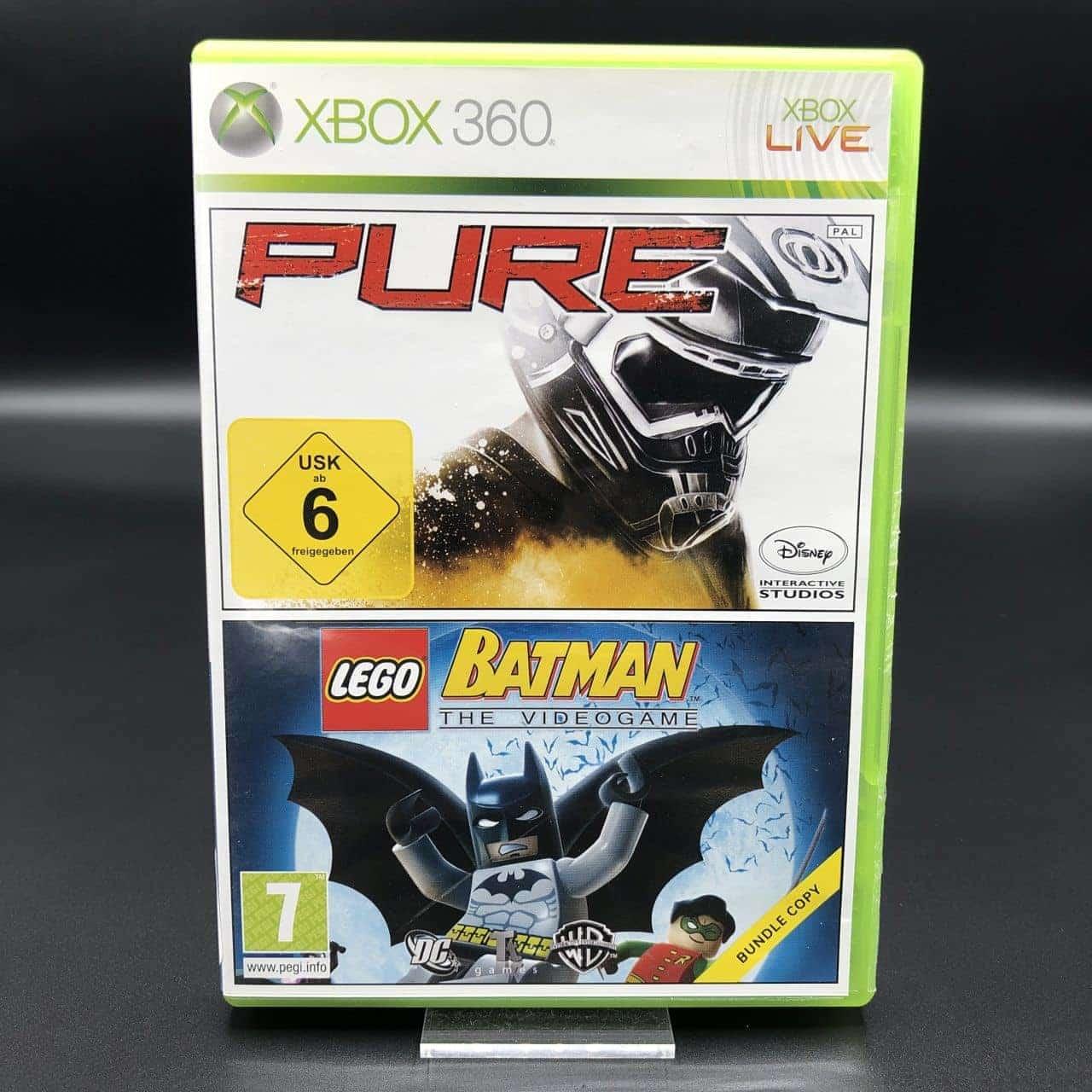 Pure + Lego Batman: The Videogame (Komplett) (Sehr gut) Xbox 360