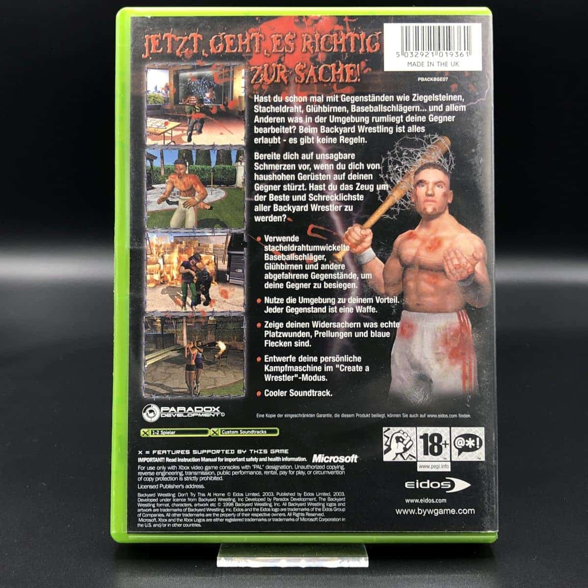 XBC Backyard Wrestling: Don't Try This at Home (Komplett) (Sehr gut) Microsoft Xbox Classic