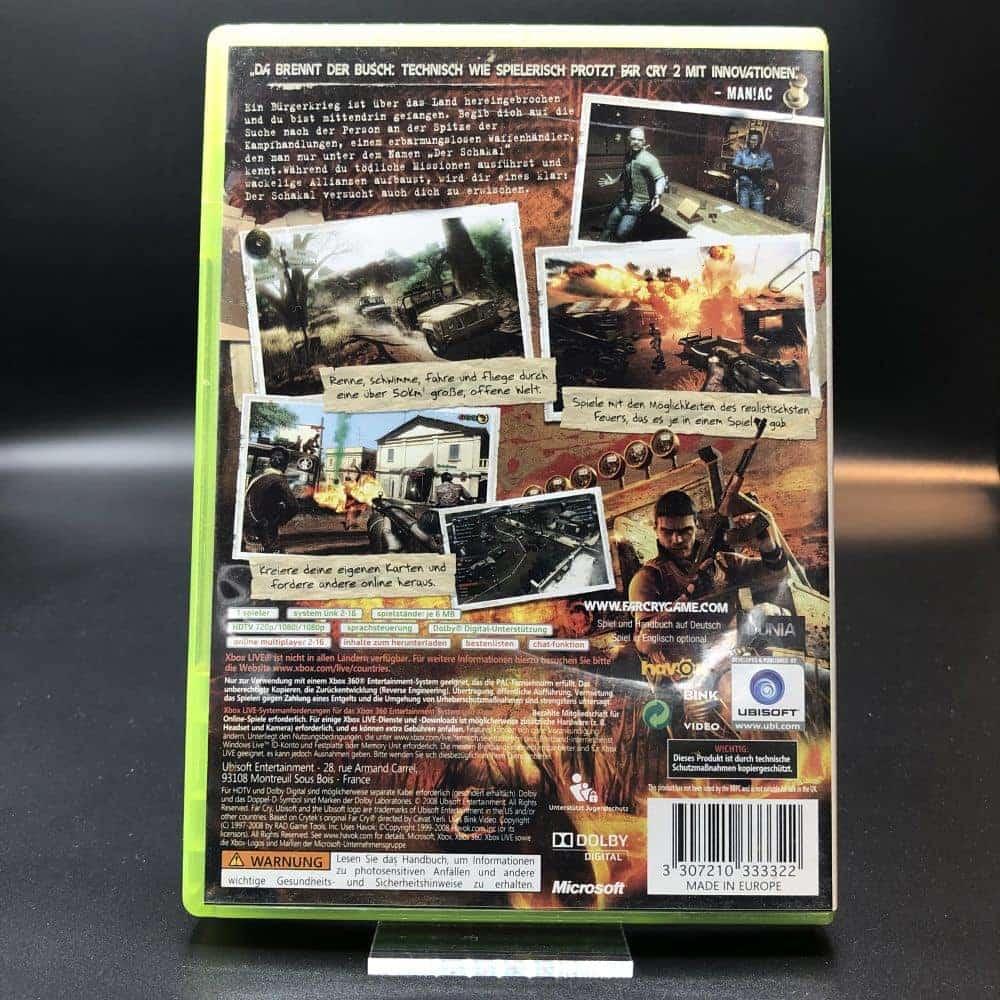 Far Cry 2 (Komplett) (Gut) XBOX 360 (FSK18)