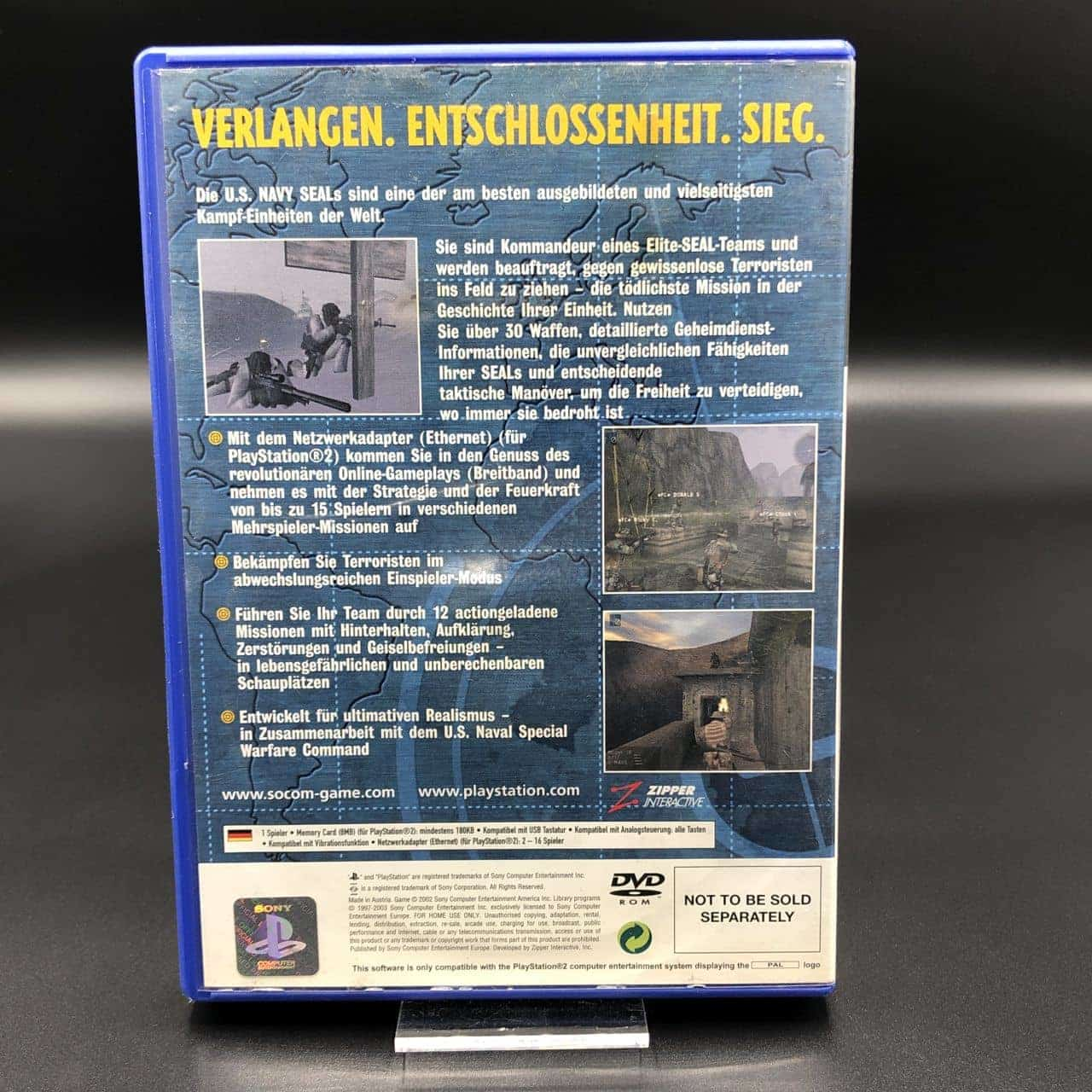 PS2 SOCOM: U.S. Navy SEALs (Komplett) (Gebrauchsspuren) Sony PlayStation 2