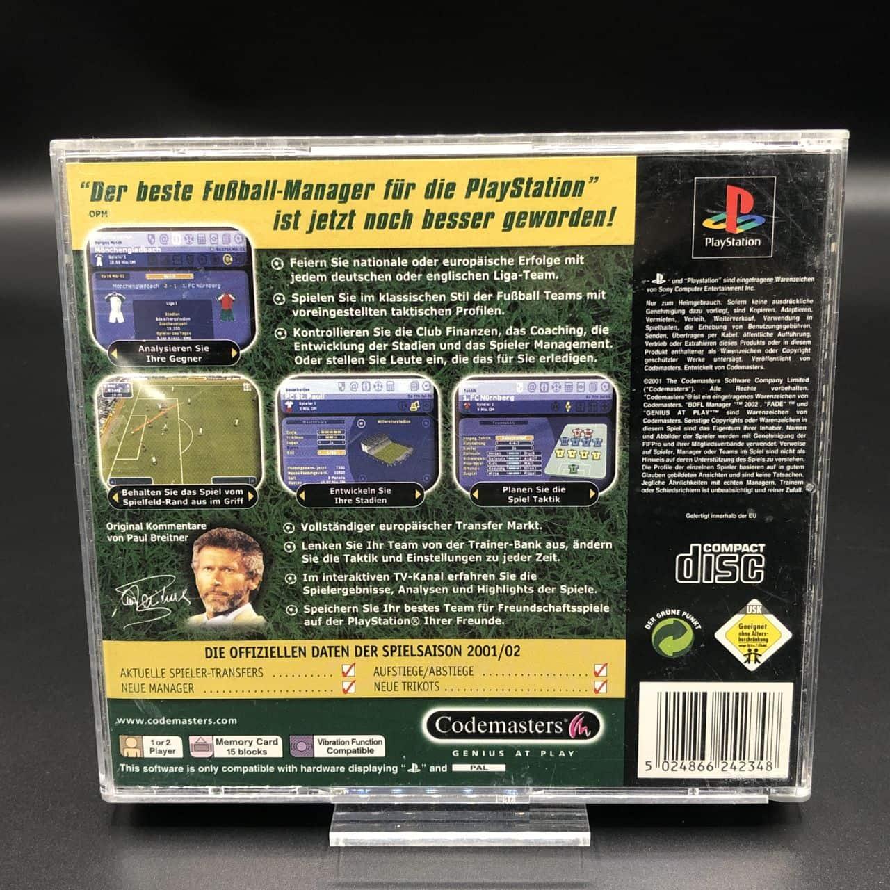 PS1 BDFL Manager 2002 (Komplett) (Gebrauchsspuren) Sony PlayStation 1