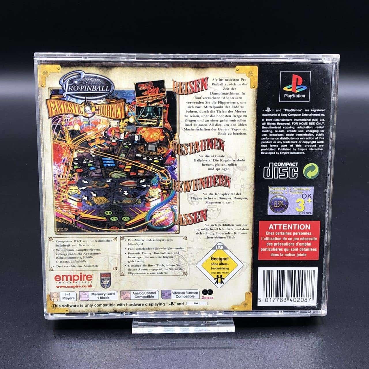 PS1 Pro Pinball - Fantastic Journey (Komplett) (Sehr gut) Sony PlayStation 1