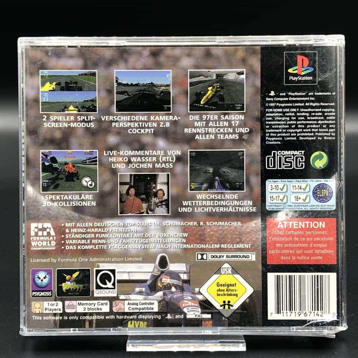 PS1 Formel Eins 97 (ohne Anleitung) (Gut) Sony PlayStation 1